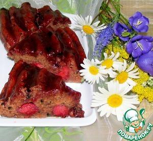 Рецепт Клубничный пирог с шоколадной каплей