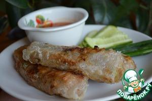 Рецепт Спринг-роллы с курицей в соусе терияки