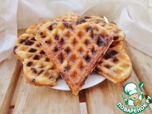 Рецепт Сливочные вафли с шоколадом