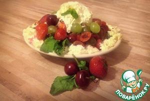 Рецепт Ягодный салат с мороженым