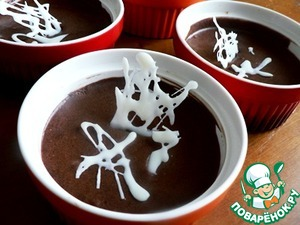 Рецепт Шоколадный мусс с ликёром и белым шоколадом