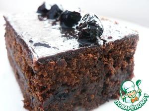 Рецепт Брауни с вареньем из чёрной смородины