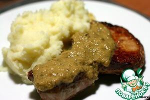 Рецепт Свинина под соусом из корнишонов