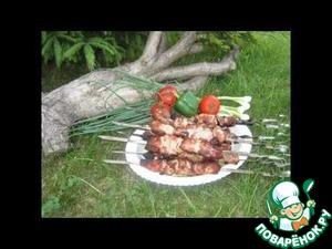 Рецепт Шашлык (мцвади) на мангале