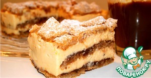 Рецепт Ореховый торт с лимонным кремом