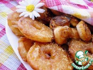 Рецепт Пончики фруктовые вкусные и хрустные
