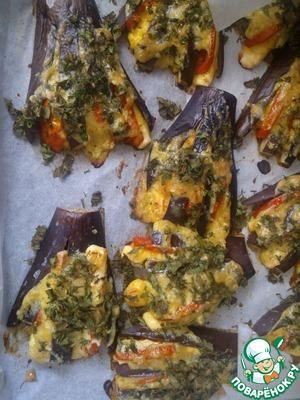 Рецепт Баклажаны с сыром и помидором