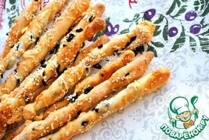 Рецепт Гриссини с маслинами и пармезаном