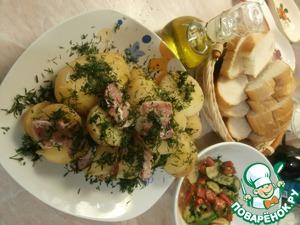 Рецепт Картофель с беконом, запечённый в фольге