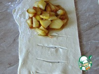 Слойки с карамельными яблоками ингредиенты