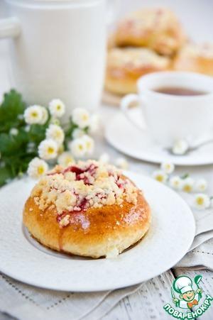 Рецепт Клубничные булочки со штрейзелем