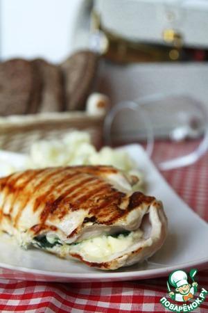 Рецепт Куриное филе со шпинатом и моцареллой