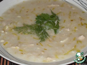 English chicken soup with cheese