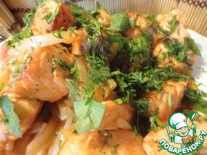 Рецепт Форель жареная с овощами