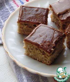 Рецепт Ореховые квадратики с глазурью
