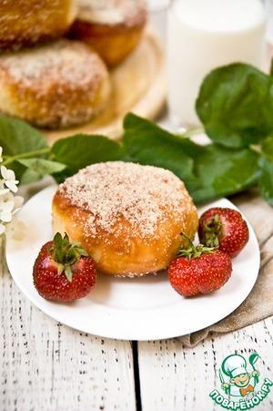 Рецепт Пончики с клубникой