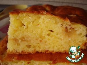 Рецепт Сметанный пирог с тeртыми яблоками