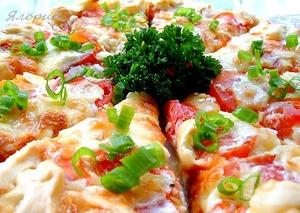 Рецепт Киш с томатами и брынзой