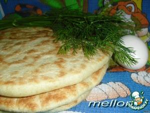 Рецепт Лепешки из манки, приготовленные на сковороде
