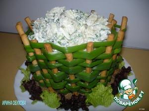 Рецепт Луковая корзинка с картофельным салатом