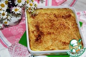 Рецепт Картофельное пюре, запеченное с чесноком и сыром