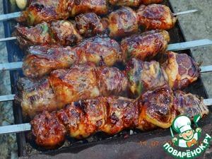 Рецепт Шашлык из свиной печени