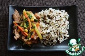 Рецепт Стир-фрай из свинины с морковью и огурцом