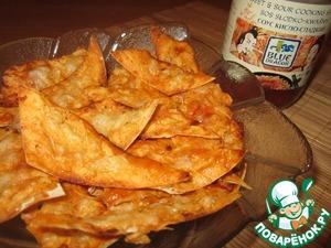 Рецепт Чипсы из армянского лаваша в кисло-сладком соусе с сыром