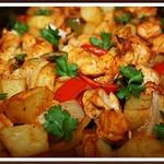 Картофель с курицей по-семейному