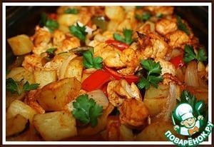 Рецепт Картошка с курицей по-семейному