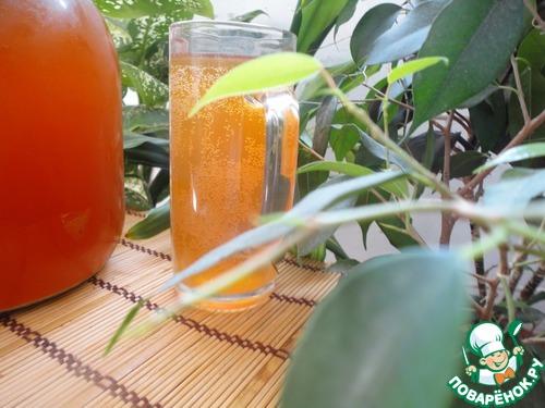 Квас хлебный с медом и изюмом – кулинарный рецепт
