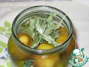 Рецепт Грушки мятные, ароматные