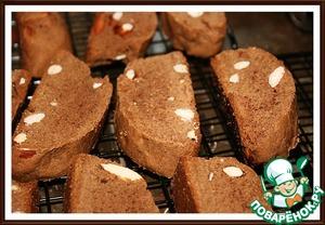 Рецепт Миндальные бискотти с какао