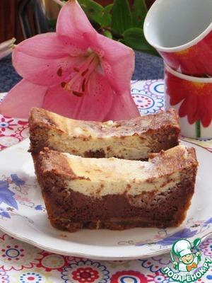 Рецепт Шоколадно-сливочный чизкейк