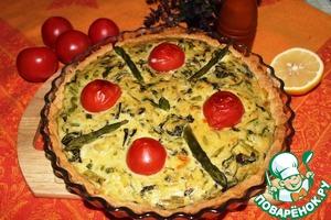 Рецепт Киш со шпинатом и спаржей