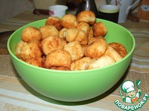 Рецепт Пончики из старого творога