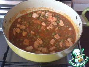 Рецепт Курица с зеленым горошком