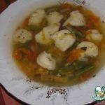 Фасолевый суп с сырными клецками