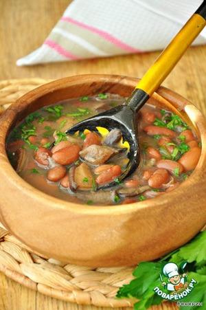 Рецепт: Тосканский грибной суп с фасолью