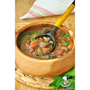Тосканский грибной суп с фасолью - Zuppa di fagioli e funghi