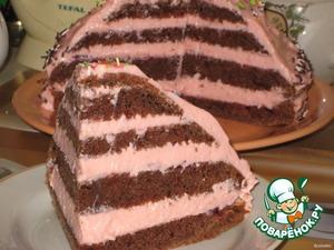 Рецепт Торт с творожно-зефирным кремом