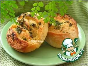 Рецепт Булочки с маслом и зеленью