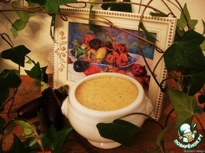 "Рецепт: Баклажанный крем-суп ""Ренуар"""