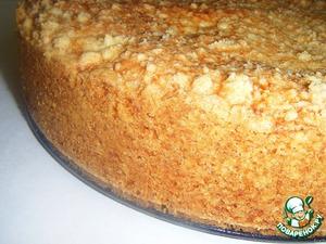 Рецепт Нежный, сочный творожно-абрикосово-маковый пирог