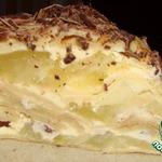 Торт блинный с творогом и яблоками