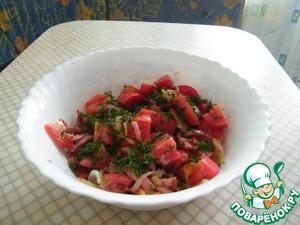 """Рецепт Салат с помидорами """"Семейный"""""""