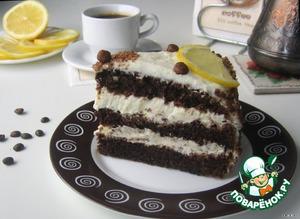 """Рецепт Творожный торт """"Кофе с лимоном"""""""
