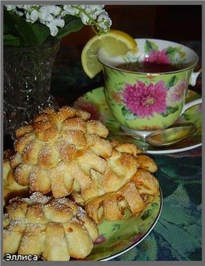 Рецепт Булочки «Хризантемы»