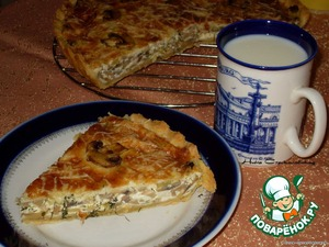 """Рецепт """"Киш Лорен"""" с грибами и сыром"""