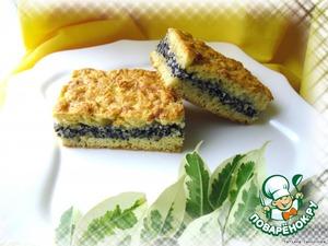 Рецепт: Пирог с творогом, маком и орехами